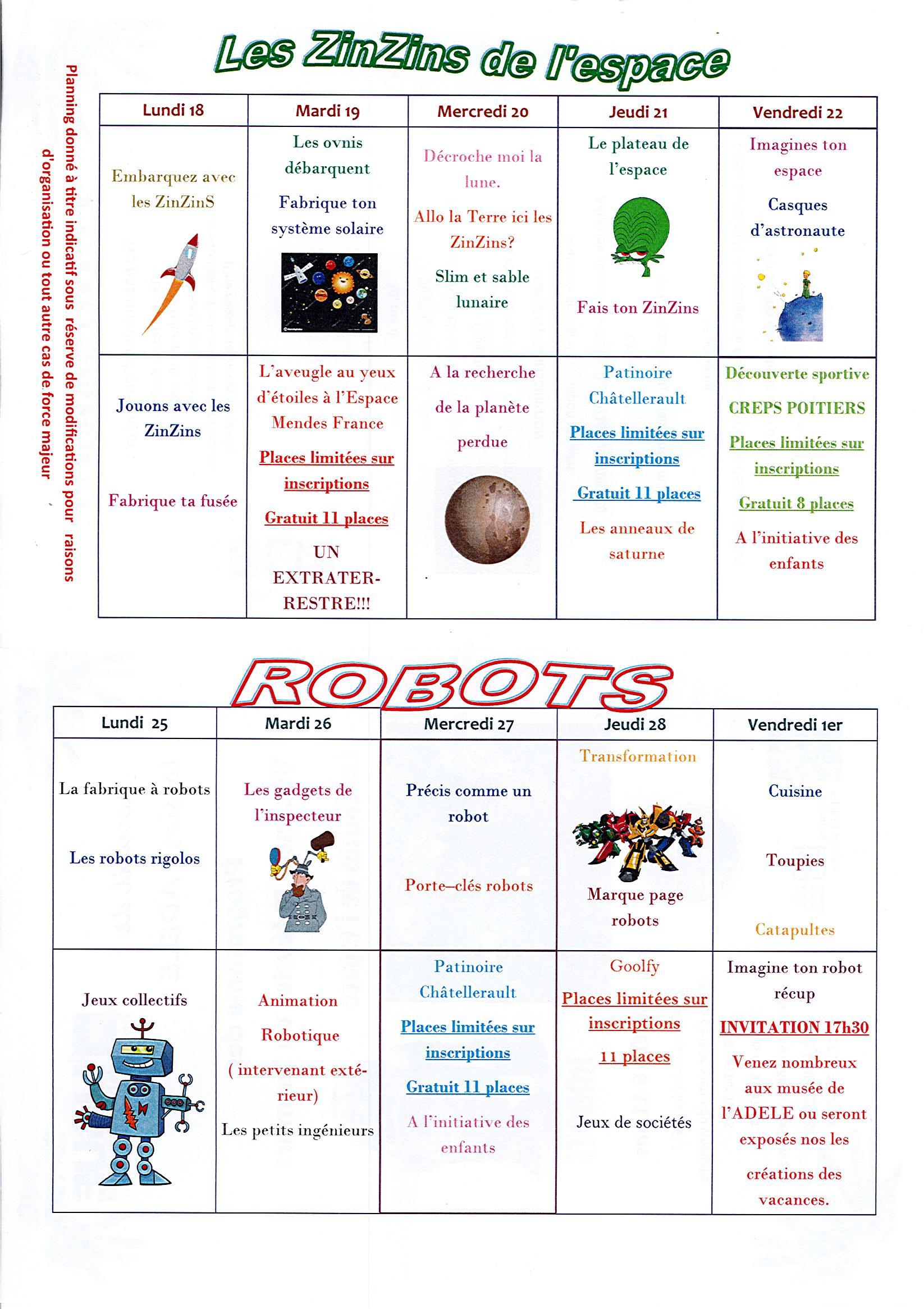 Activités Manuelles Centre De Loisirs 6 10 Ans site de bonneuil-matours - accueil de loisirs : 6 / 11 ans