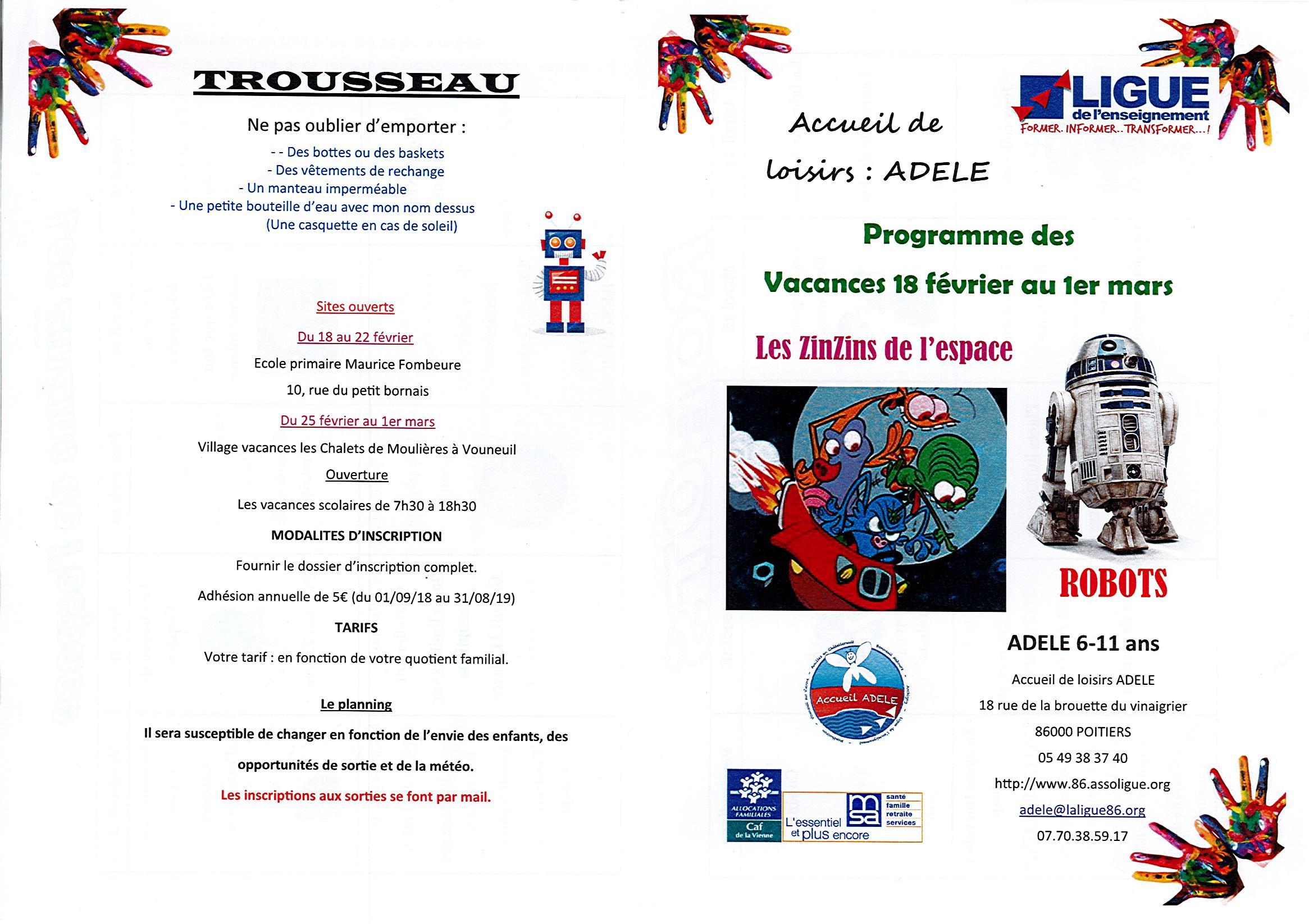 Extraordinaire Activités Manuelles Centre De Loisirs 6 10 Ans site de bonneuil-matours - accueil de loisirs : 6 / 11 ans